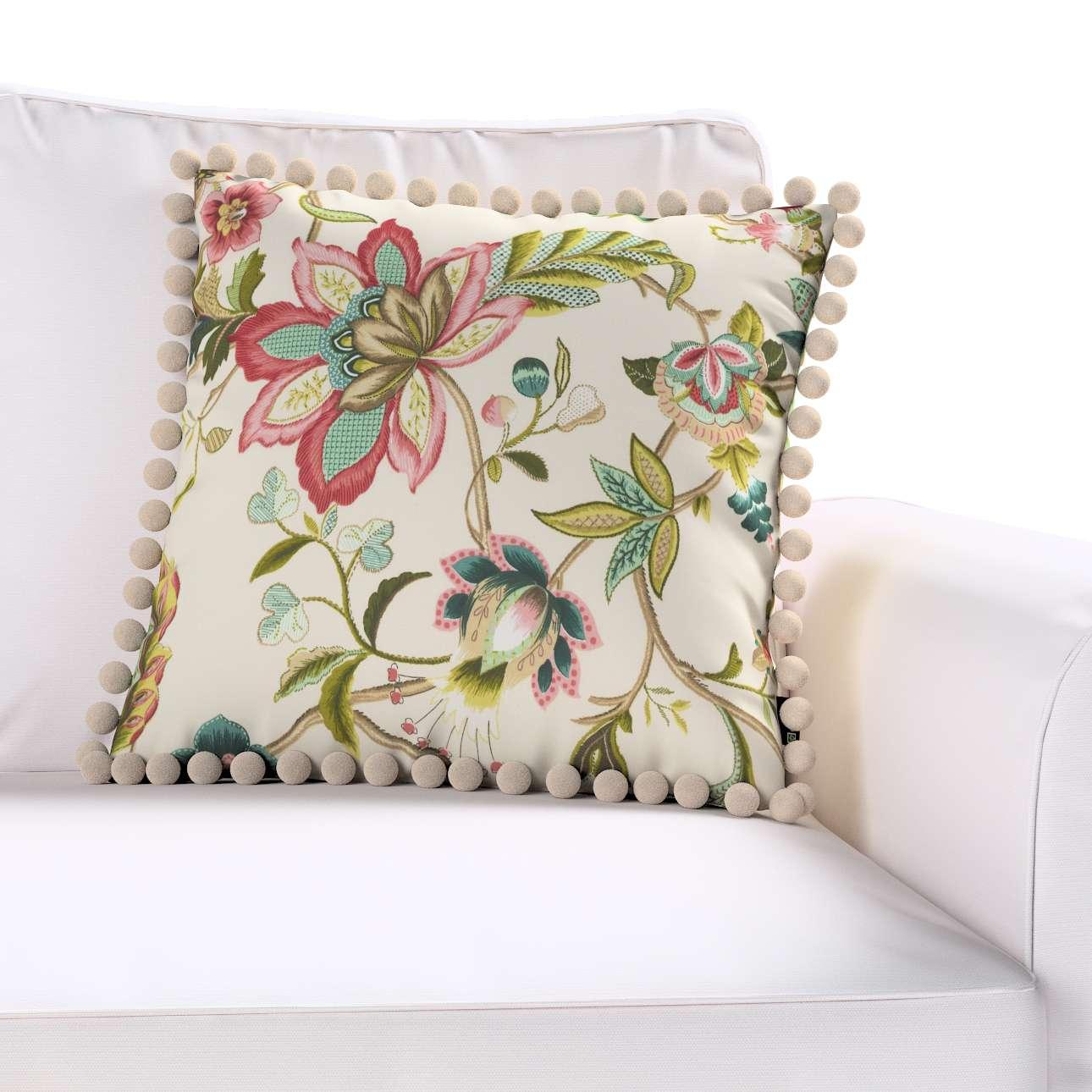 Wera dekoratyvinės pagalvėlės užvalkalas su žaismingais kraštais kolekcijoje Londres, audinys: 122-00