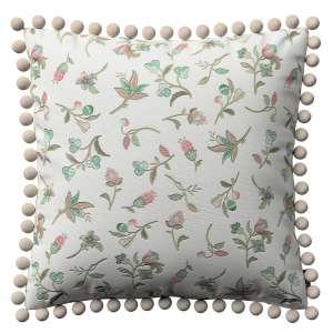 Wera dekoratyvinės pagalvėlės užvalkalas su žaismingais kraštais 45 x 45 cm kolekcijoje Londres, audinys: 122-02