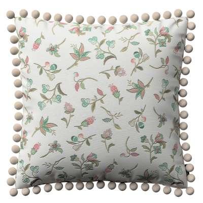 Poszewka Wera na poduszkę 122-02 małe kwiaty na jasnym tle Kolekcja Londres