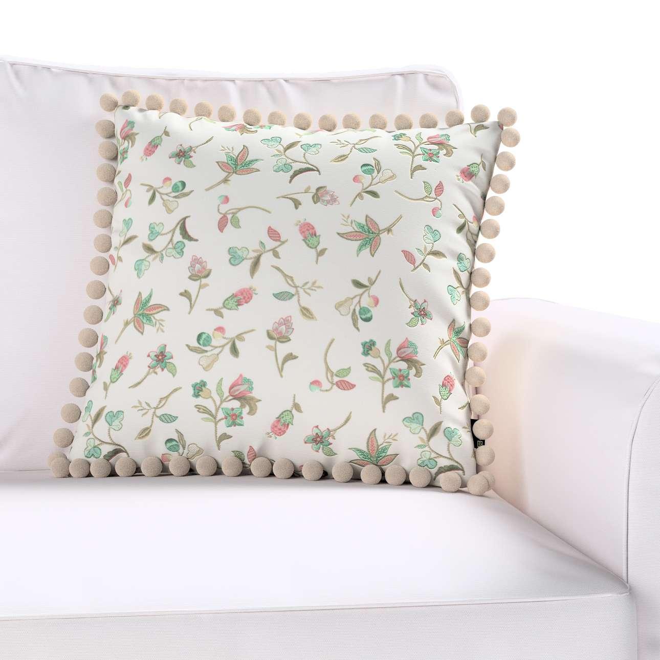 Wera dekoratyvinės pagalvėlės užvalkalas su žaismingais kraštais kolekcijoje Londres, audinys: 122-02