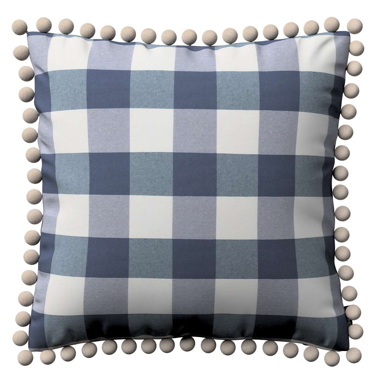Wera dekoratyvinės pagalvėlės užvalkalas su žaismingais kraštais 45 × 45 cm kolekcijoje Quadro, audinys: 136-03