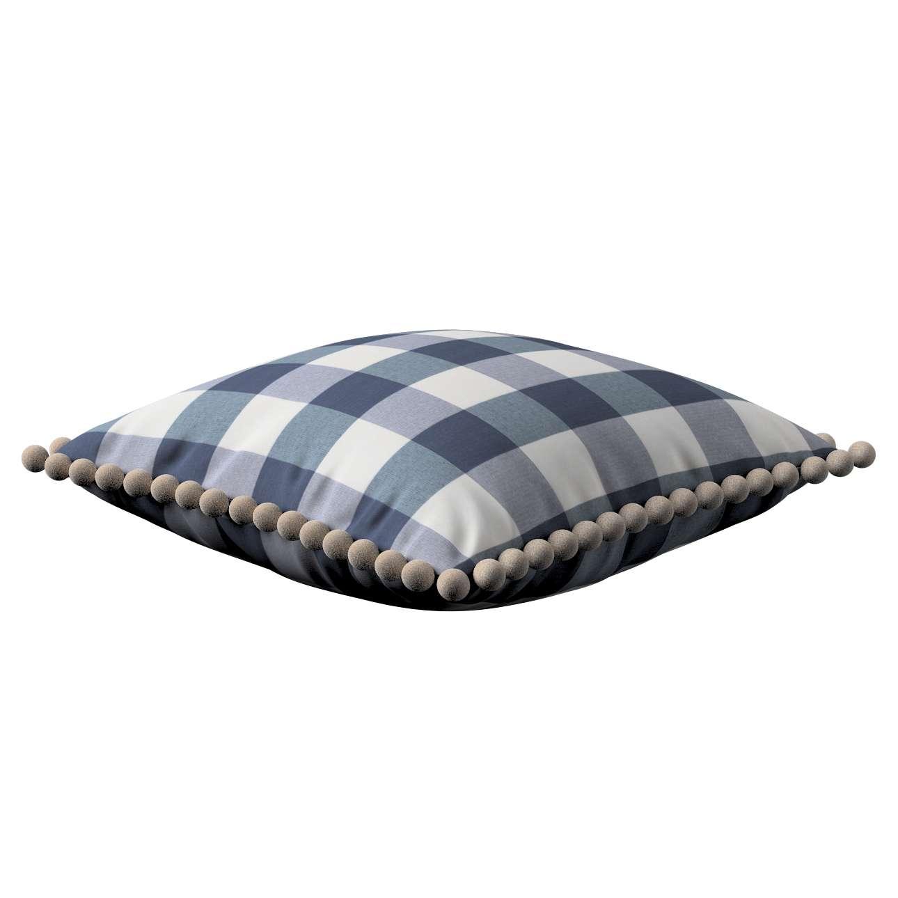 Wera dekoratyvinės pagalvėlės užvalkalas su žaismingais kraštais 45 x 45 cm kolekcijoje Quadro, audinys: 136-03