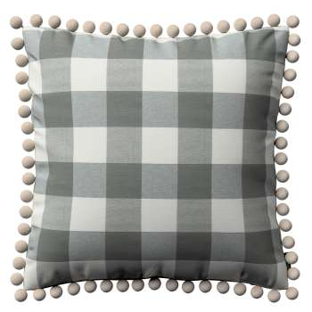 Vera cushion cover with pom poms