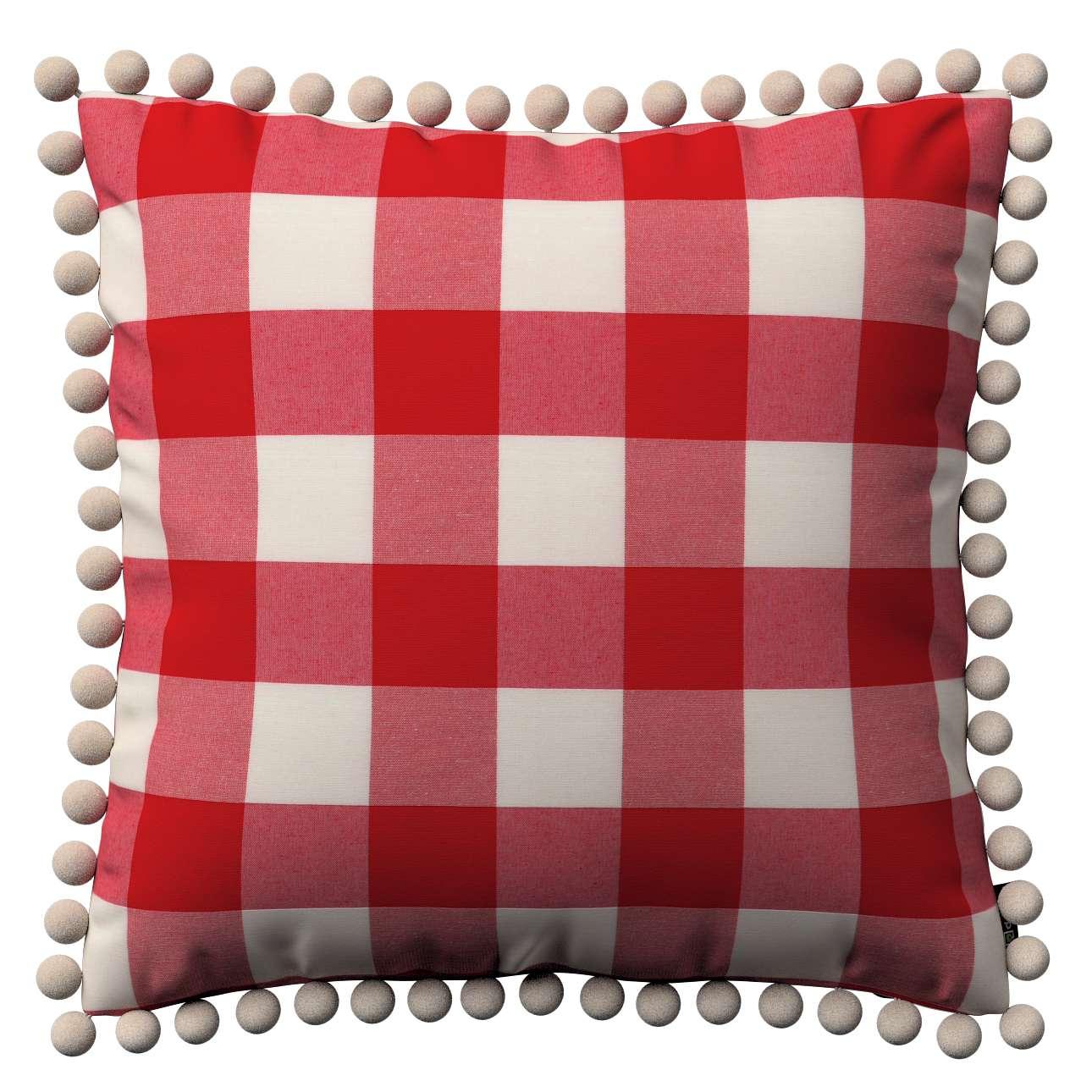 Wera dekoratyvinės pagalvėlės su žaismingais kraštais 45 x 45 cm kolekcijoje Quadro, audinys: 136-18