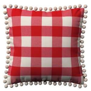 Wera dekoratyvinės pagalvėlės užvalkalas su žaismingais kraštais 45 x 45 cm kolekcijoje Quadro, audinys: 136-18