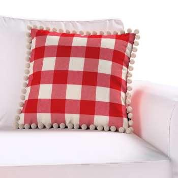 Wera dekoratyvinės pagalvėlės užvalkalas su žaismingais kraštais kolekcijoje Quadro, audinys: 136-18