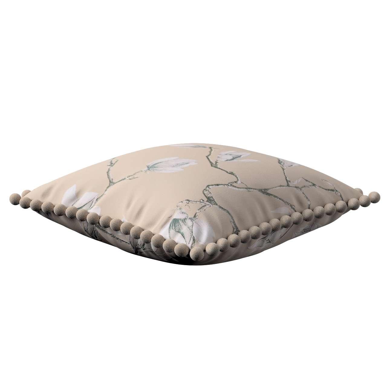 Wera dekoratyvinės pagalvėlės užvalkalas su žaismingais kraštais 45 x 45 cm kolekcijoje Flowers, audinys: 311-12