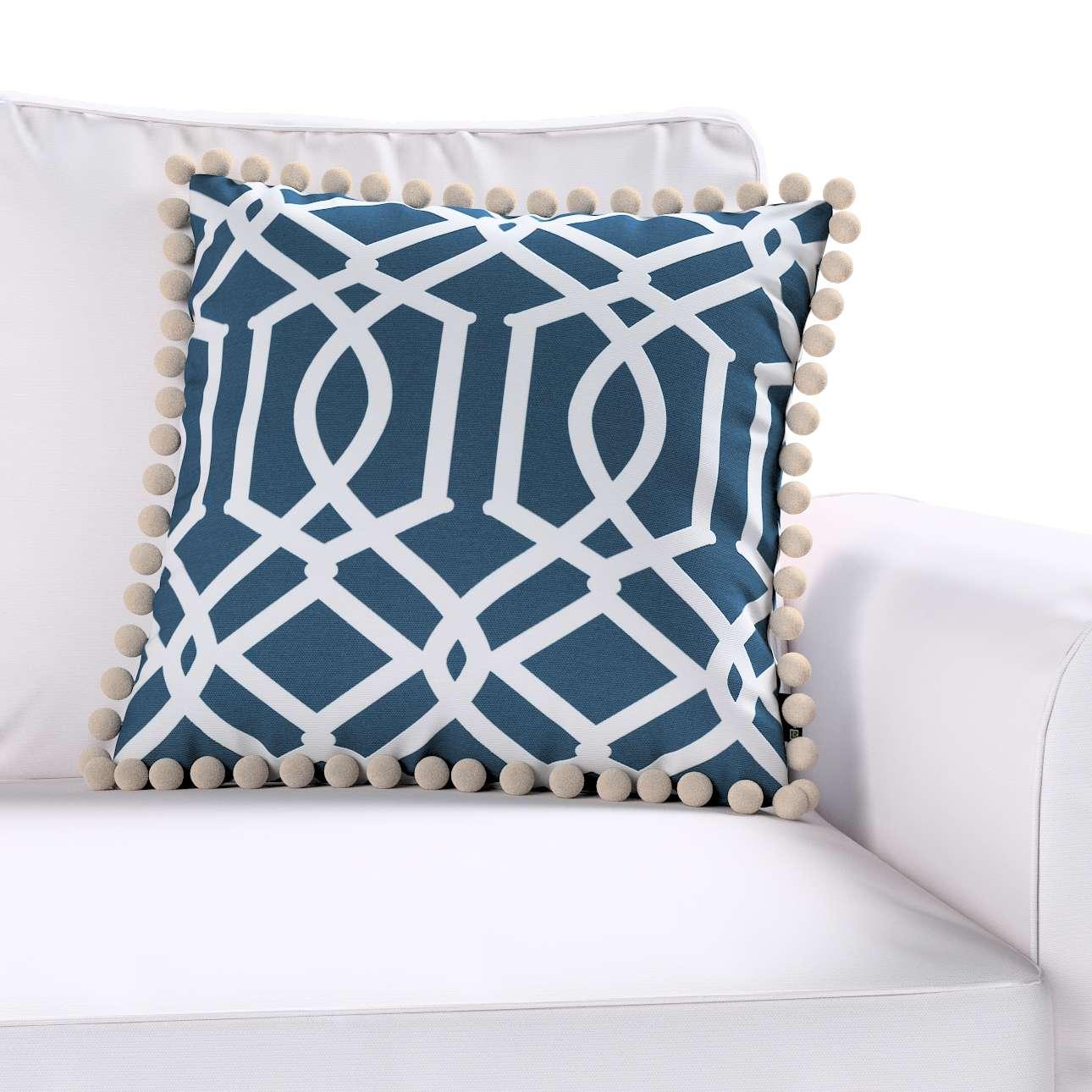 Wera dekoratyvinės pagalvėlės užvalkalas su žaismingais kraštais kolekcijoje Comics Prints, audinys: 135-10