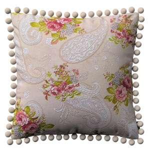Kissenhülle Wera mit Bommeln 45 x 45 cm von der Kollektion Flowers/Luna, Stoff: 311-15