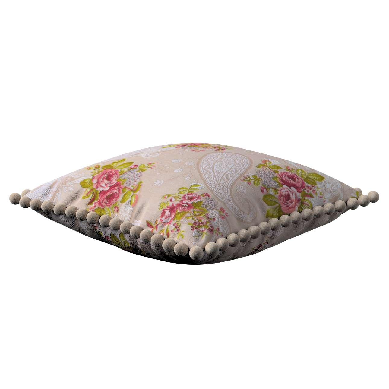 Wera dekoratyvinės pagalvėlės su žaismingais kraštais 45 x 45 cm kolekcijoje Flowers, audinys: 311-15