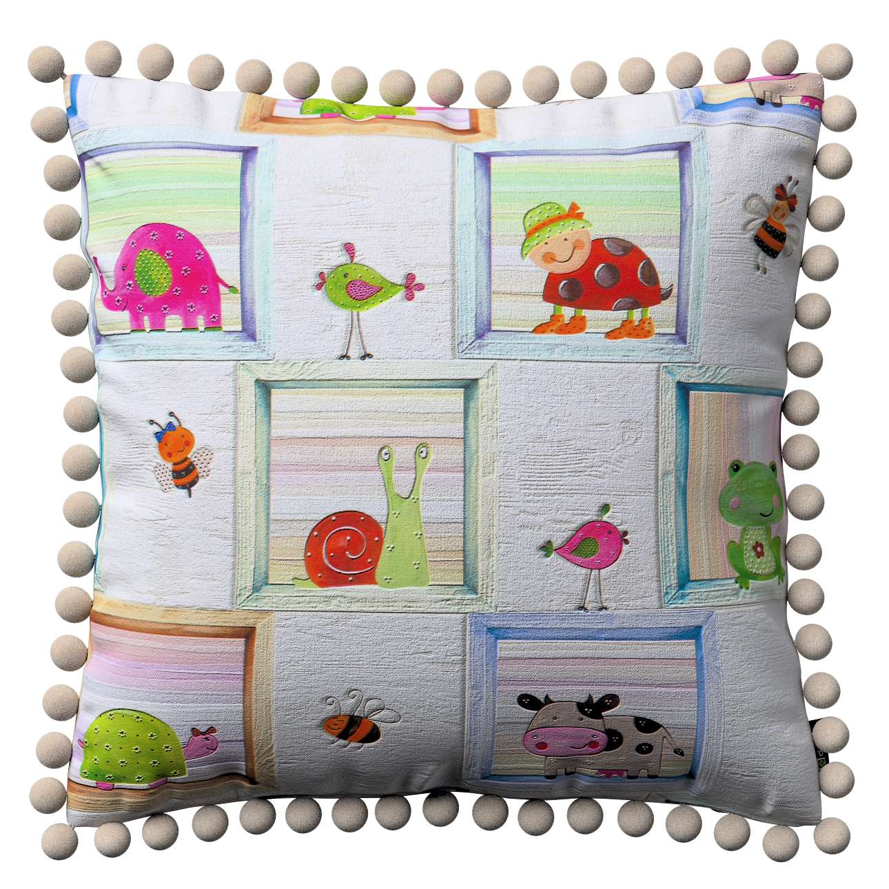 Wera dekoratyvinės pagalvėlės užvalkalas su žaismingais kraštais 45 x 45 cm kolekcijoje Apanona, audinys: 151-04