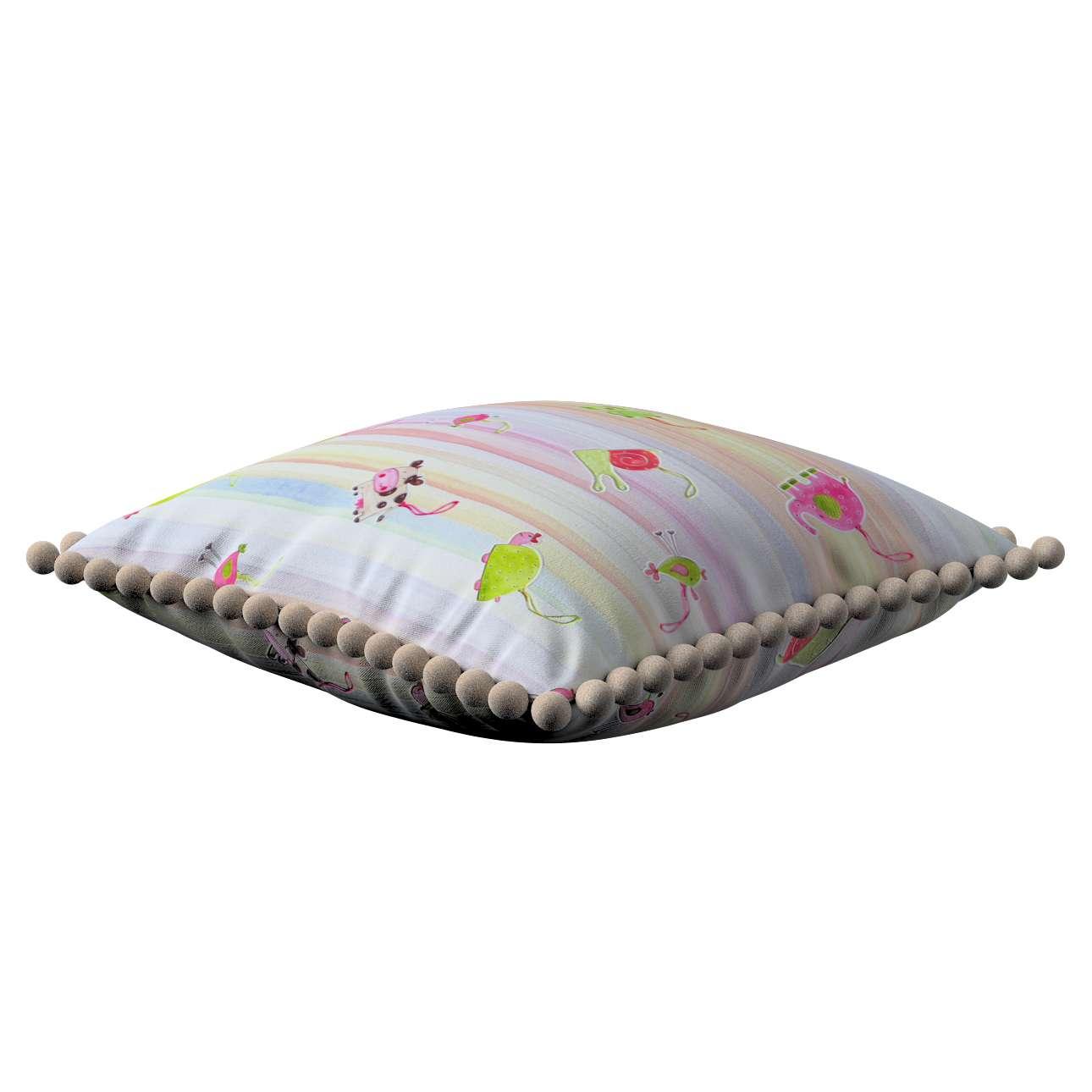 Wera dekoratyvinės pagalvėlės užvalkalas su žaismingais kraštais 45 x 45 cm kolekcijoje Apanona, audinys: 151-05