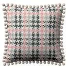 Kissenhülle Wera mit Bommeln 45 x 45 cm von der Kollektion Brooklyn, Stoff: 137-75