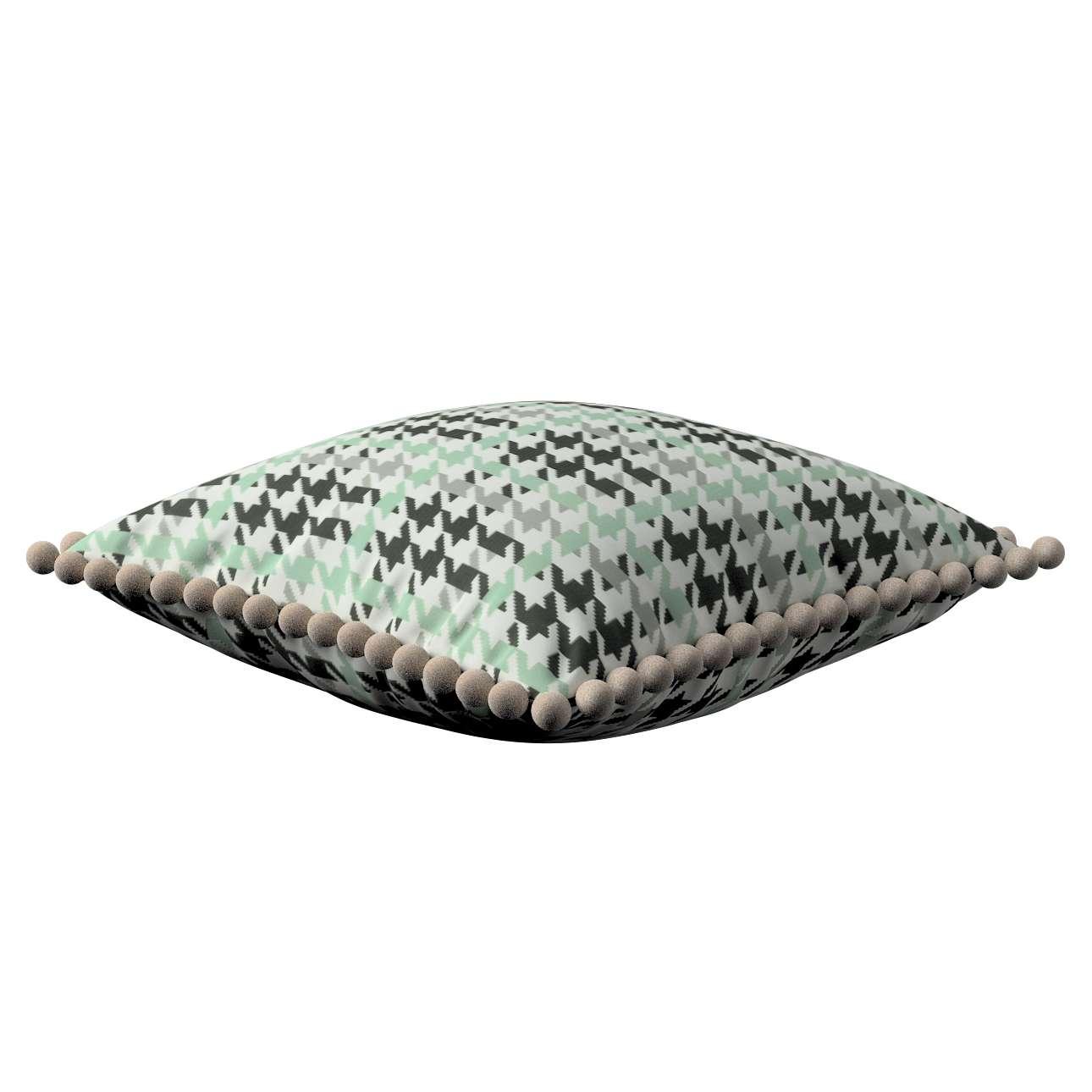 Wera dekoratyvinės pagalvėlės užvalkalas su žaismingais kraštais 45 x 45 cm kolekcijoje Brooklyn, audinys: 137-77