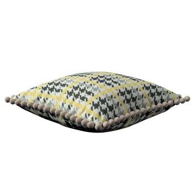 Wera dekoratyvinės pagalvėlės užvalkalas su žaismingais kraštais 137-79 Juoda, pilka, šviesi, geltona Kolekcija NUOLAIDOS