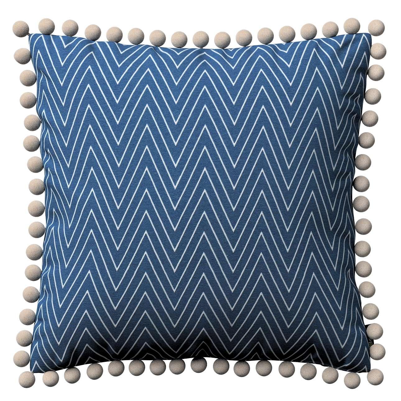 Wera dekoratyvinės pagalvėlės su žaismingais kraštais 45 x 45 cm kolekcijoje Brooklyn, audinys: 137-88