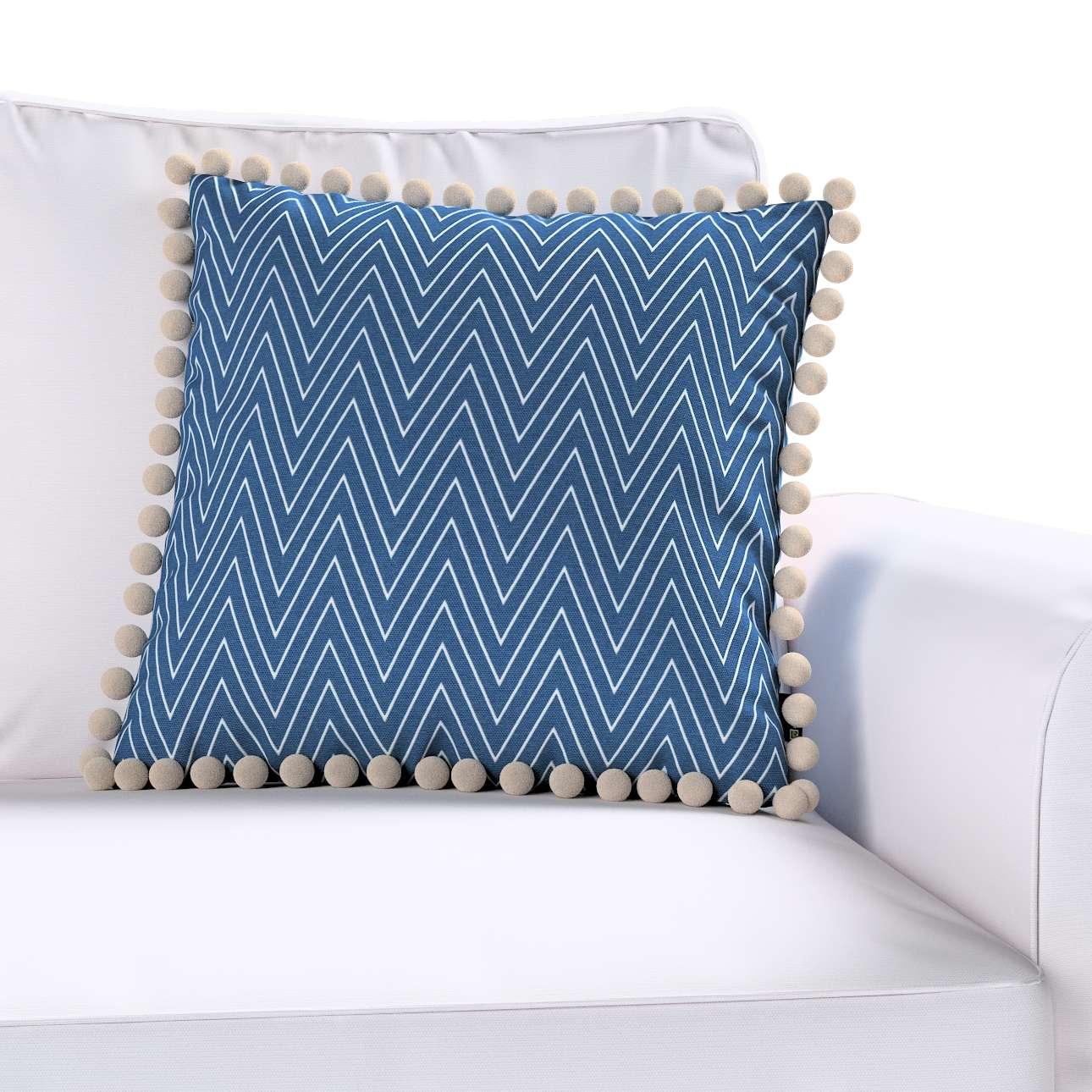 Wera dekoratyvinės pagalvėlės užvalkalas su žaismingais kraštais 45 x 45 cm kolekcijoje Brooklyn, audinys: 137-88