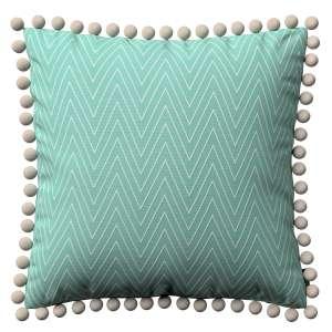 Wera dekoratyvinės pagalvėlės užvalkalas su žaismingais kraštais 45 x 45 cm kolekcijoje Brooklyn, audinys: 137-90