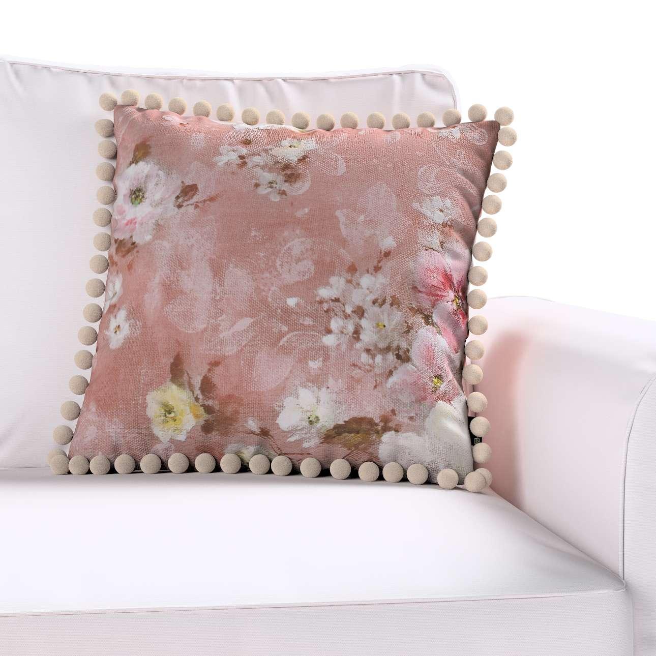 Wera dekoratyvinės pagalvėlės užvalkalas su žaismingais kraštais 45 x 45 cm kolekcijoje Monet, audinys: 137-83