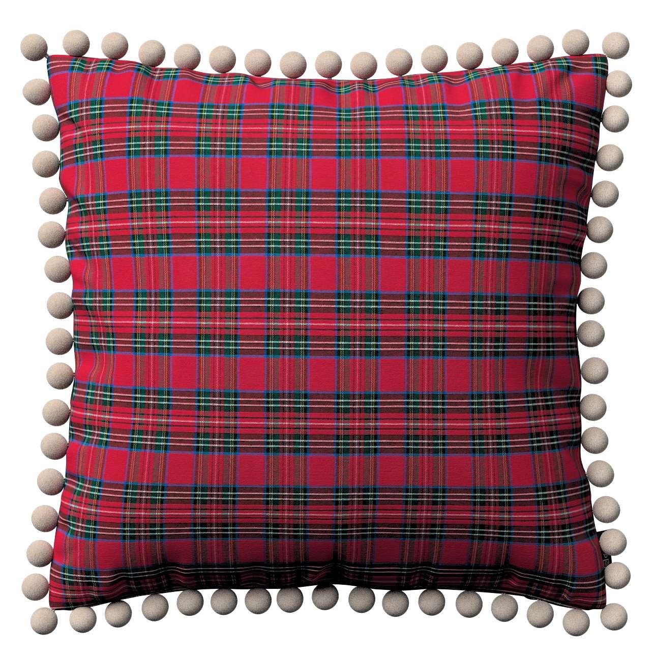 Wera dekoratyvinės pagalvėlės su žaismingais kraštais 45 x 45 cm kolekcijoje Bristol, audinys: 126-29