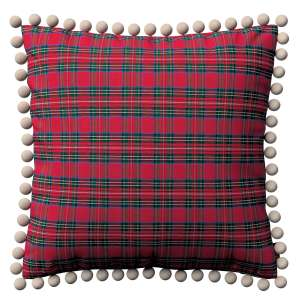 Wera cushion cover with pompons 45 x 45 cm (18 x 18 inch) in collection Bristol, fabric: 126-29