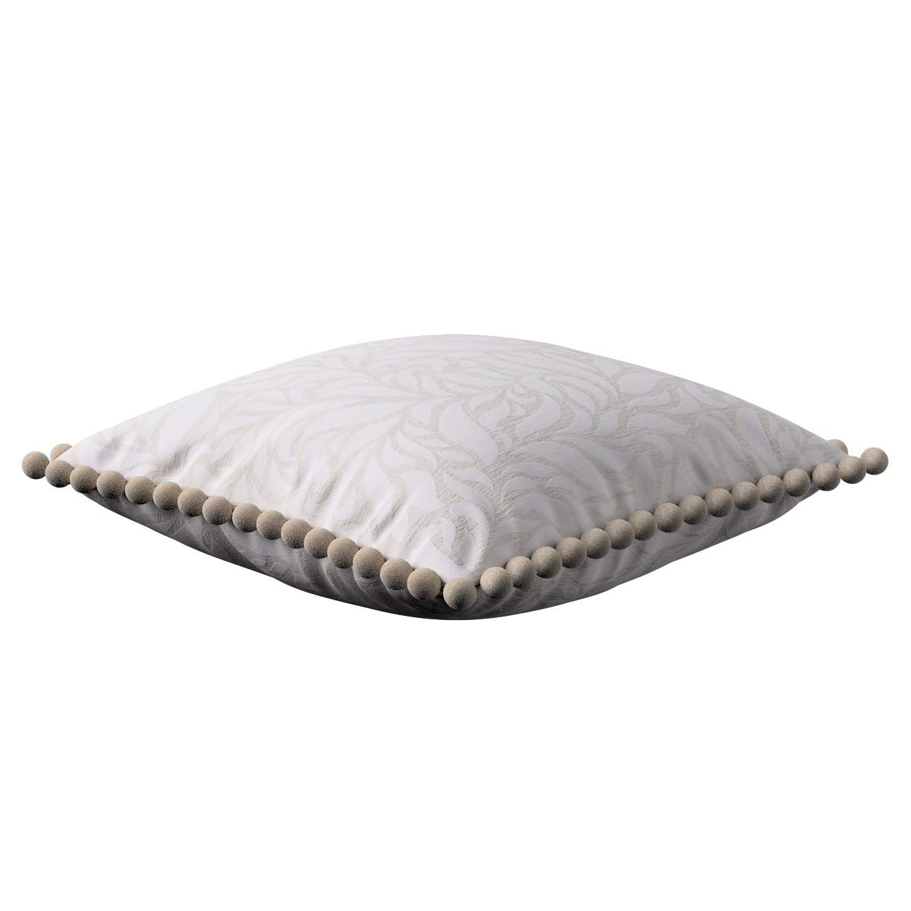 Wera dekoratyvinės pagalvėlės užvalkalas su žaismingais kraštais 45 x 45 cm kolekcijoje Venice, audinys: 140-50