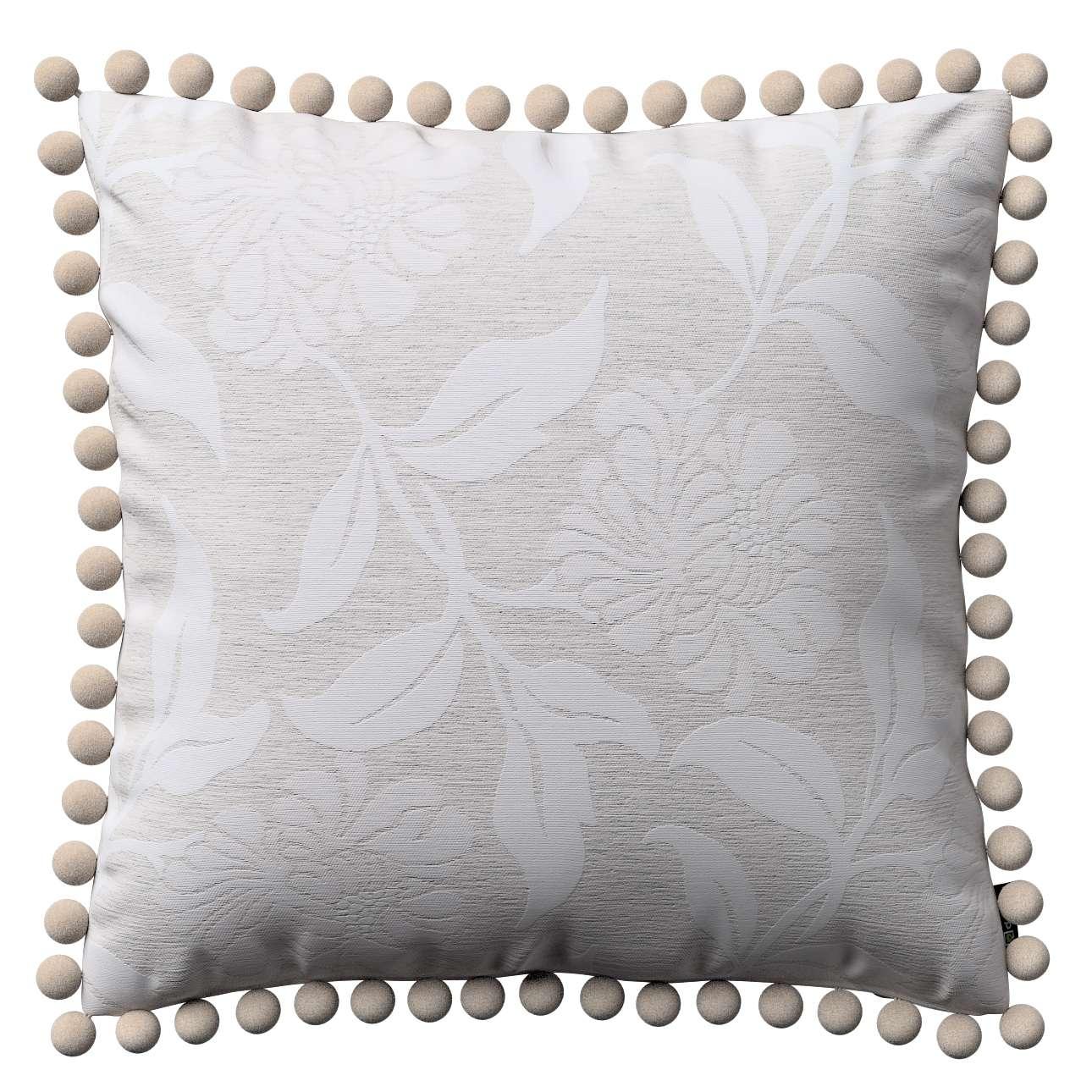 Wera dekoratyvinės pagalvėlės užvalkalas su žaismingais kraštais kolekcijoje Venice, audinys: 140-51