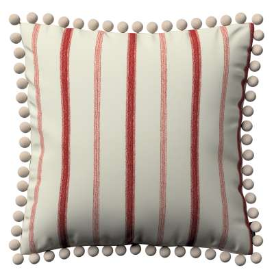 Daisy cushion covers with pom poms