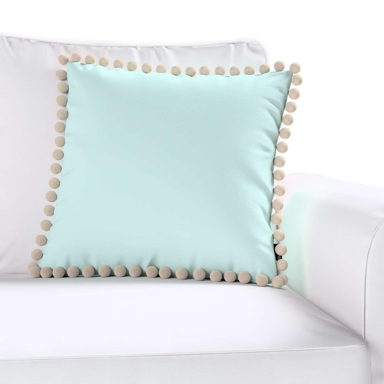 Wera dekoratyvinės pagalvėlės užvalkalas su žaismingais kraštais 45 x 45 cm kolekcijoje Cotton Panama, audinys: 702-10