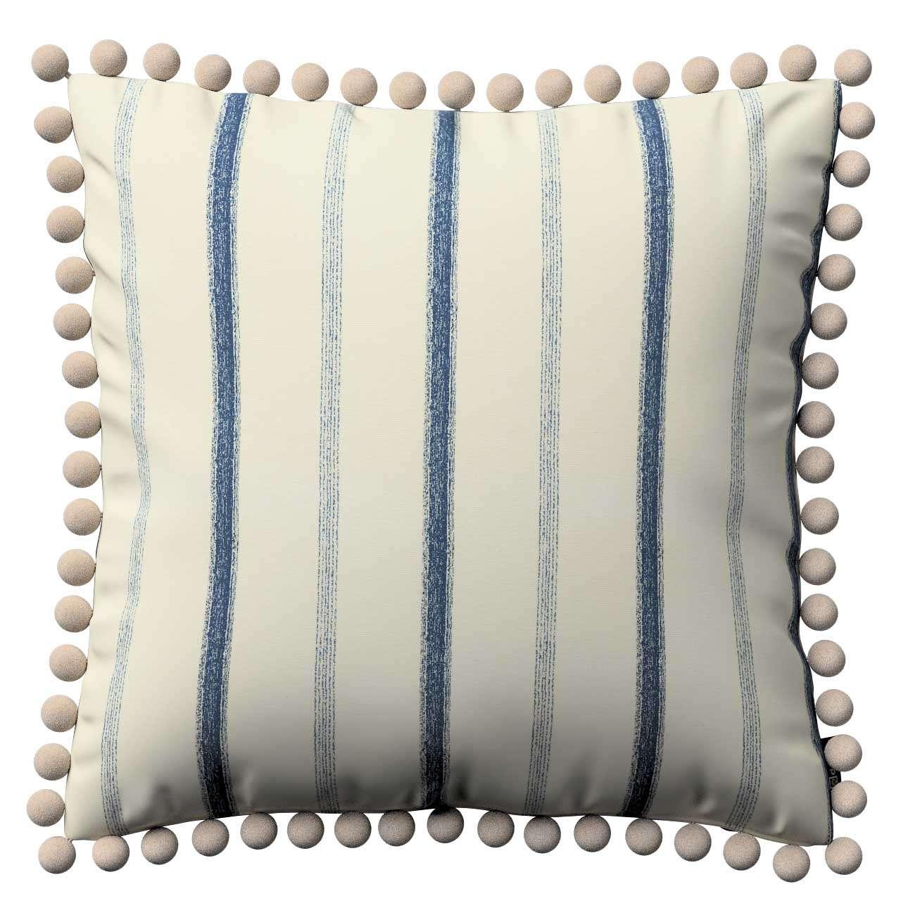 Wera dekoratyvinės pagalvėlės užvalkalas su žaismingais kraštais kolekcijoje Avinon, audinys: 129-66