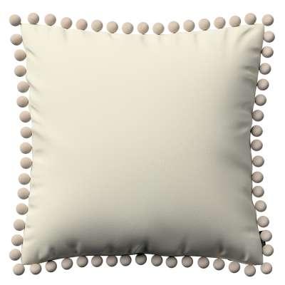 Poszewka Wera na poduszkę 704-10 śmietankowa biel Kolekcja Velvet