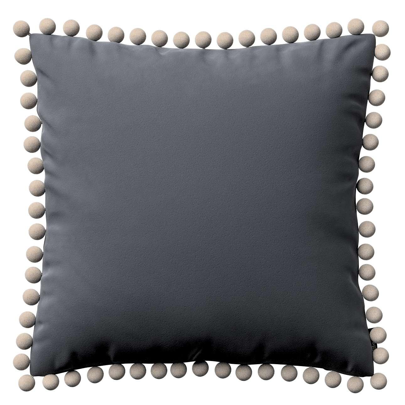 Poszewka Wera na poduszkę w kolekcji Velvet, tkanina: 704-12
