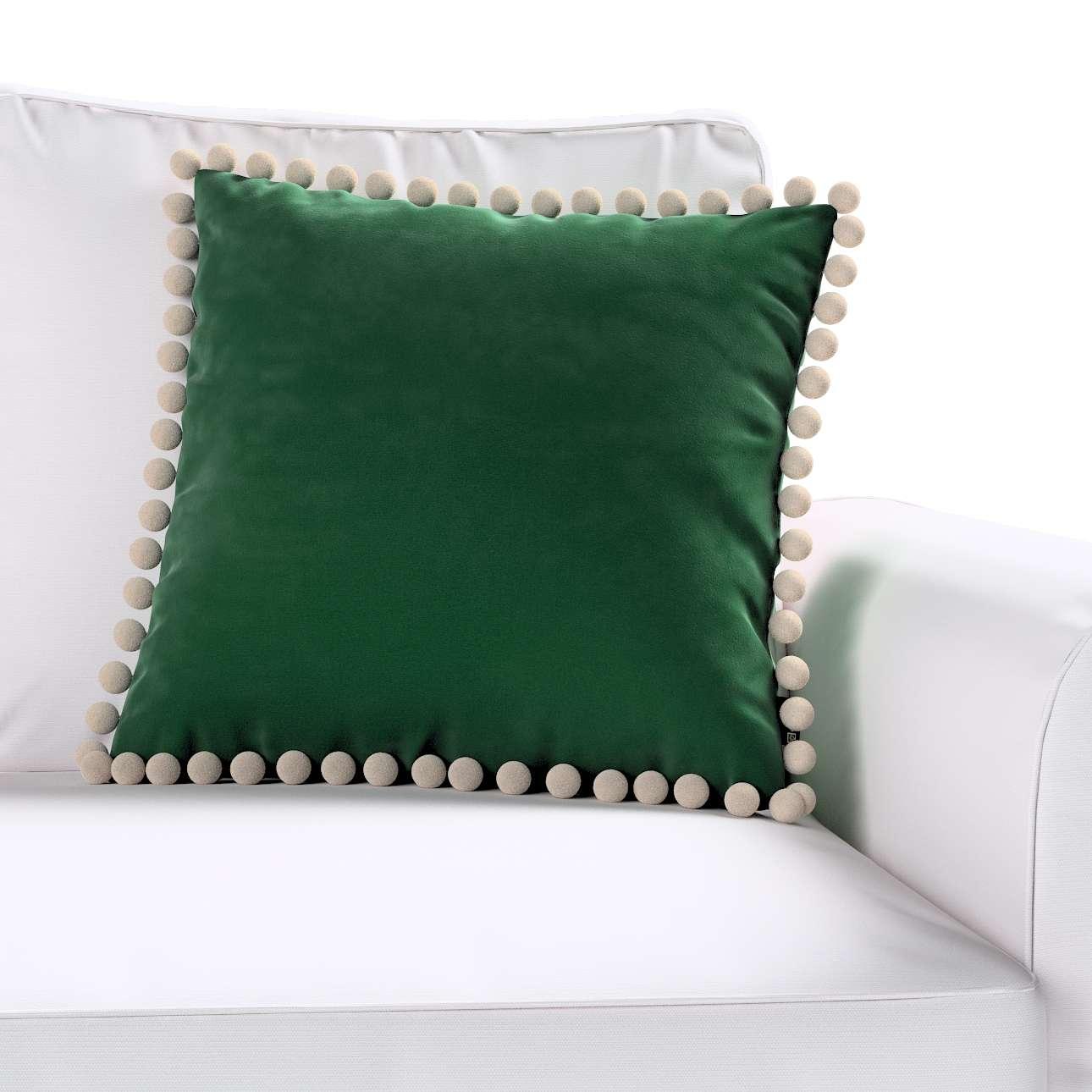Wera dekoratyvinės pagalvėlės užvalkalas su žaismingais kraštais kolekcijoje Velvet/Aksomas, audinys: 704-13