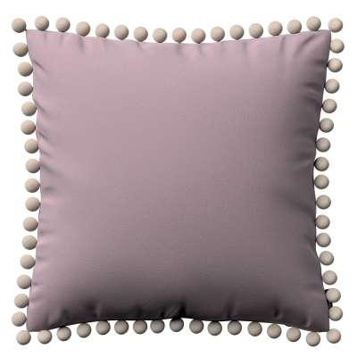 Wera dekoratyvinės pagalvėlės užvalkalas su žaismingais kraštais 704-14 Prigesinta rožinė Kolekcija Velvetas/Aksomas