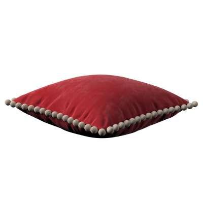 Wera dekoratyvinės pagalvėlės užvalkalas su žaismingais kraštais 704-15 Raudona Kolekcija Velvetas/Aksomas
