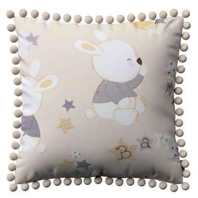 Poszewka Wera na poduszkę 141-85 króliczki na kremowym tle Kolekcja Adventure