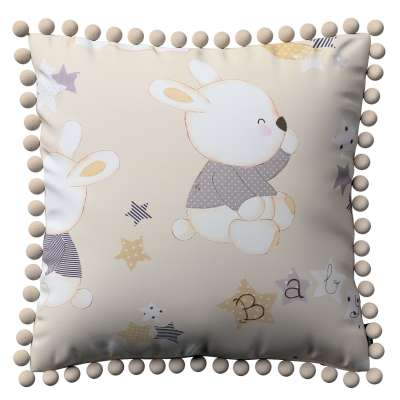 Vera cushion cover with pom poms 141-85 beige Collection Adventure