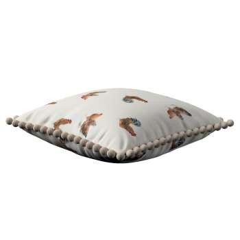 Wera dekoratyvinės pagalvėlės užvalkalas su žaismingais kraštais kolekcijoje Flowers, audinys: 141-80