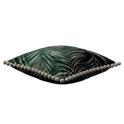 Viera s brmbolcami 704-21 palmové listy na zelenom podklade Kolekcia Velvet