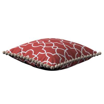 Poszewka Wera na poduszkę 142-21 czerwony w biały marokański wzór Kolekcja Gardenia