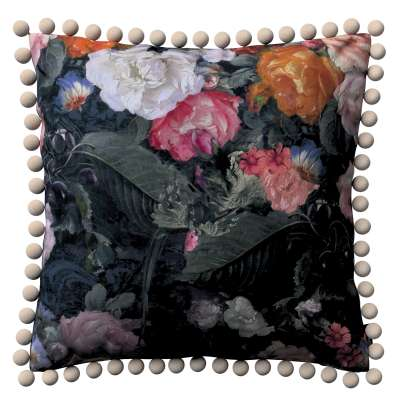 Viera s brmbolcami 161-02 farebné kvety na tmavom pozadí Kolekcia Gardenia