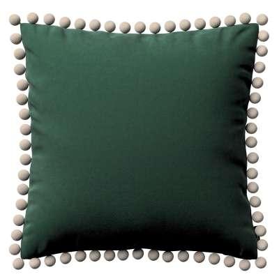 Wera dekoratyvinės pagalvėlės užvalkalas su žaismingais kraštais 704-25 tamsi žalia Kolekcija Velvetas/Aksomas