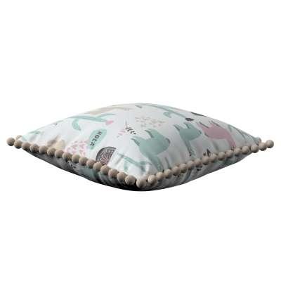 Daisy pagalvėlės užvalkalas  pom poms