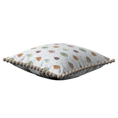 Daisy cushion covers with pom poms 500-09  Collection Magic Collection