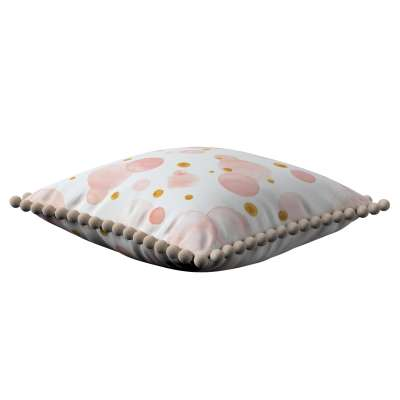 Daisy cushion covers with pom poms in collection Magic Collection, fabric: 500-13