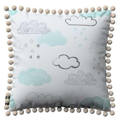 Daisy cushion covers with pom poms in collection Magic Collection, fabric: 500-14