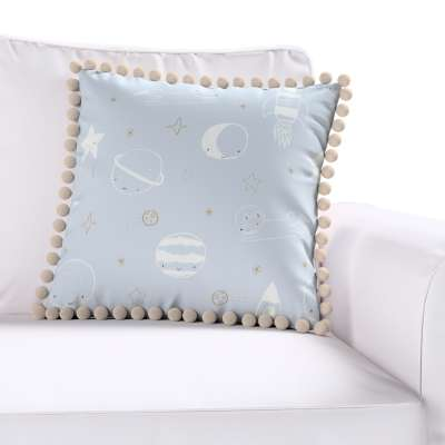 Daisy cushion covers with pom poms in collection Magic Collection, fabric: 500-16