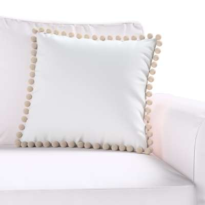 Daisy cushion covers with pom poms in collection Happiness, fabric: 133-02