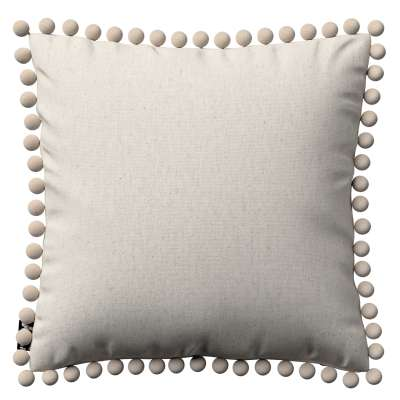 Daisy cushion covers with pom poms in collection Happiness, fabric: 133-65