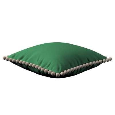 Daisy pagalvėlės užvalkalas  pom poms 133-18 tamsiai žalia Kolekcija Happiness